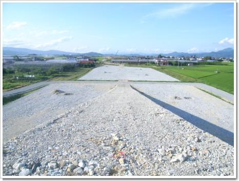 平成21年度羽入地区道路改良工事16号~18号間グラベルマット